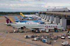 Aeroporto di Manchester Fotografie Stock