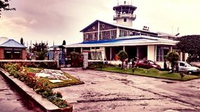 Aeroporto di Pokhara, Nepal Fotografia Stock Libera da Diritti