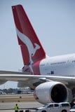 Aeroporto di Qantas A380 Perth Immagine Stock