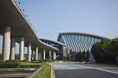 Aeroporto di Schang-Hai Pudong Fotografie Stock