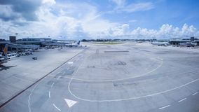 Aeroporto di Singapore stock footage