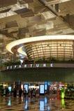 Aeroporto di Singapore - partenza Corridoio del terminale tre Immagine Stock Libera da Diritti
