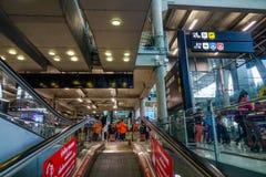 Aeroporto di Suvarnabhumi a Bangkok, Tailandia fotografie stock libere da diritti