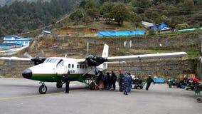 Aeroporto di Tenzing-Hillary Lukla Fotografia Stock