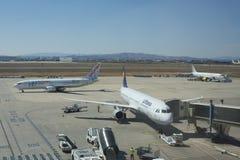 Aeroporto di Valencia, Spagna fotografia stock