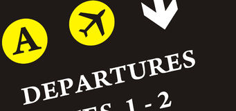 Aeroporto do curso do mundo Fotografia de Stock