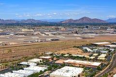 Aeroporto do deserto imagem de stock