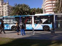 Aeroporto do ônibus de Alicante spain Imagens de Stock Royalty Free