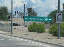 Aeroporto do porto do céu Foto de Stock Royalty Free