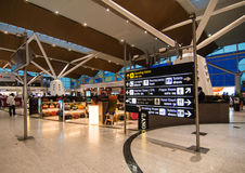 Aeroporto domestico a Nuova Delhi, India Fotografia Stock Libera da Diritti