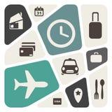 Aeroporto e fundo abstrato dos serviços de linhas aéreas ilustração do vetor