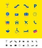 Aeroporto e iconset do curso Imagens de Stock