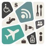 Aeroporto e serviços de linhas aéreas ilustração royalty free