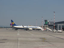 Aeroporto em Bergamo Orio Al Serio Imagem de Stock