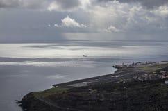 Aeroporto em Machico, Madeira fotos de stock royalty free