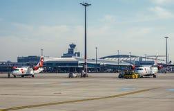 Aeroporto em Praga Fotos de Stock