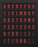 Aeroporto Flip Board Panel Font meccanico illustrazione vettoriale