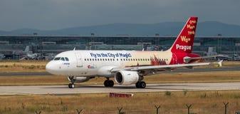 AEROPORTO FRANCOFORTE, ALEMANHA: 23 DE JUNHO DE 2017: Airbus A319 Checo Airl Imagens de Stock