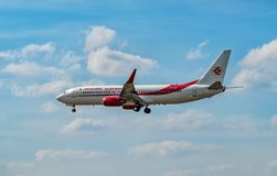 AEROPORTO FRANCOFORTE, ALEMANHA: 23 DE JUNHO DE 2017: Boeing Air Algerie é Imagens de Stock