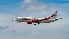 AEROPORTO FRANCOFORTE, ALEMANHA: 23 DE JUNHO DE 2017: Boeing Air Algerie é Fotos de Stock Royalty Free