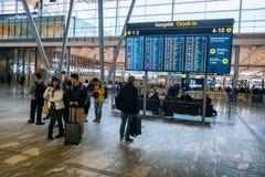 Aeroporto Gardermoen de Oslo Imagem de Stock Royalty Free