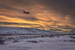 Aeroporto Groenlandia di Kangerlussuaq Immagini Stock Libere da Diritti