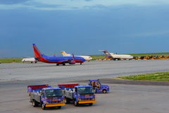Aeroporto internacional de Denver Imagem de Stock Royalty Free