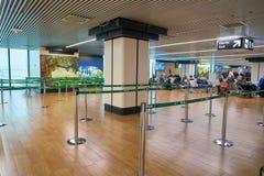 Aeroporto internacional de Fiumicino fotografia de stock