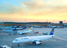 Aeroporto internacional de Sheremetyevo Imagens de Stock