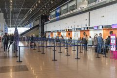 Aeroporto internacional de Skopje imagens de stock