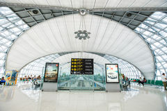 Aeroporto internacional de Suvarnabhumi Foto de Stock
