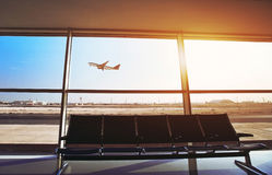 Aeroporto internacional em Doha fotos de stock
