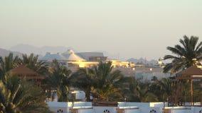 Aeroporto internacional no paraíso tropical Sharm-el-Sheikh, Egito vídeos de arquivo