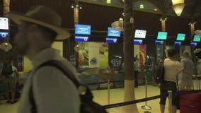 Aeroporto internacional original de Samui no vídeo da metragem do estoque do ar livre vídeos de arquivo