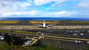 Aeroporto internacional Ponta Delgada/Açores/Portugal Fotografia de Stock