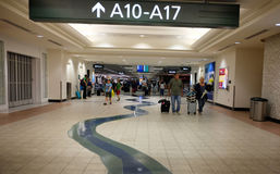 Aeroporto internacional terminal de Sacramento, Califórnia Foto de Stock