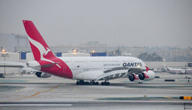 Aeroporto internazionale del Airbus 380 Los Angeles Fotografie Stock