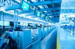 Aeroporto internazionale del baiyun di Canton, imbarcante con riferimento a Immagini Stock Libere da Diritti
