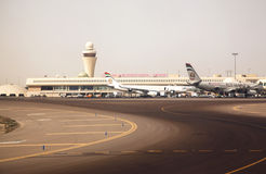Aeroporto internazionale dell'Abu Dhabi Fotografia Stock