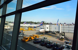 Aeroporto internazionale dello Sheremetyevo Immagini Stock Libere da Diritti