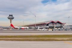 Aeroporto internazionale di Barajas, Madrid fotografia stock libera da diritti