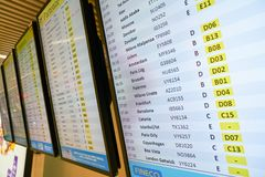 Aeroporto internazionale di Fiumicino fotografia stock