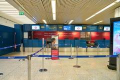 Aeroporto internazionale di Fiumicino fotografie stock libere da diritti