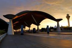Aeroporto internazionale di Kuala Lumpur immagine stock libera da diritti