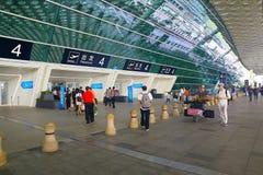 Aeroporto internazionale di Shenzhen, porcellana Immagini Stock