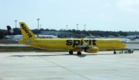 Aeroporto Messico di decollo Cancun di Airbus 321 di spirito fotografia stock
