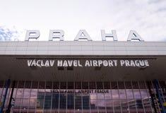 Aeroporto Praga de Vaclav Havel Fotografia de Stock Royalty Free