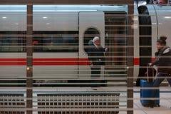 Aeroporto principale di Francoforte della stazione ferroviaria Fotografie Stock Libere da Diritti