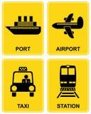 Aeroporto, stazione, tassì, porta Immagine Stock Libera da Diritti