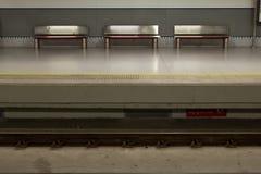 Aeroporto trainstation di Malaga Fotografia Stock Libera da Diritti